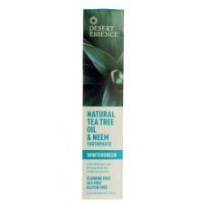 Зубная паста Винтегрин с маслом Чайного дерева и Ним / Wintergreen, Tea Tree Oil & Neem Toothpaste